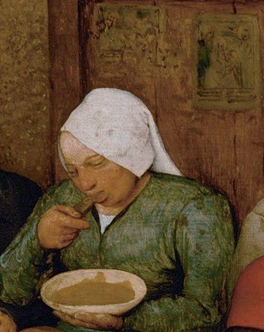 Detail From The Peasant Wedding Pieter Bruegel Elder 1566 1569