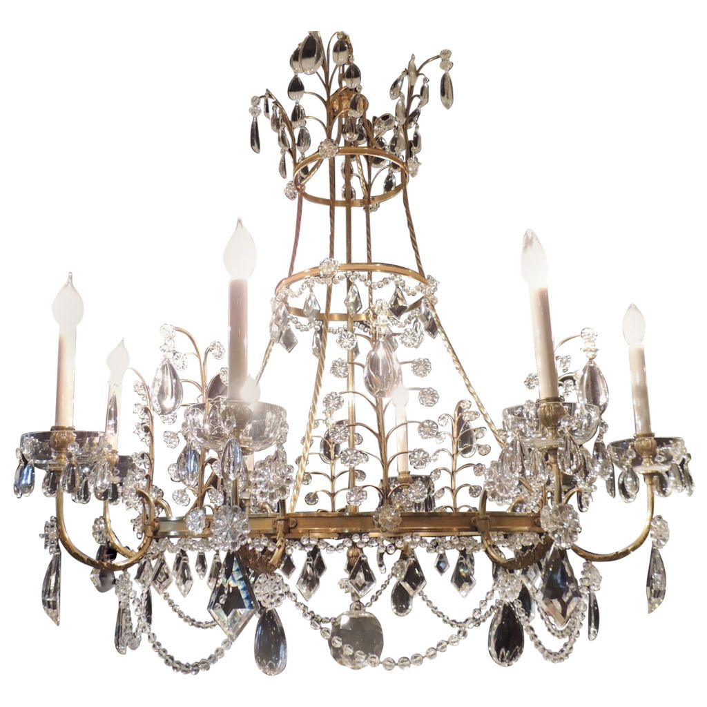 neoclassical lighting. Very Large Fine French Neoclassical Bronze Crystal Eight-Light Baltic Chandelier | 1stdibs.com Lighting 2