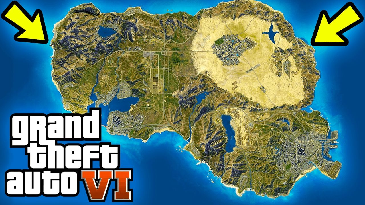 GTA 6 WORLD MAP CONCEPT USA LOCATION NEW REGIONS MORE In Gta ...