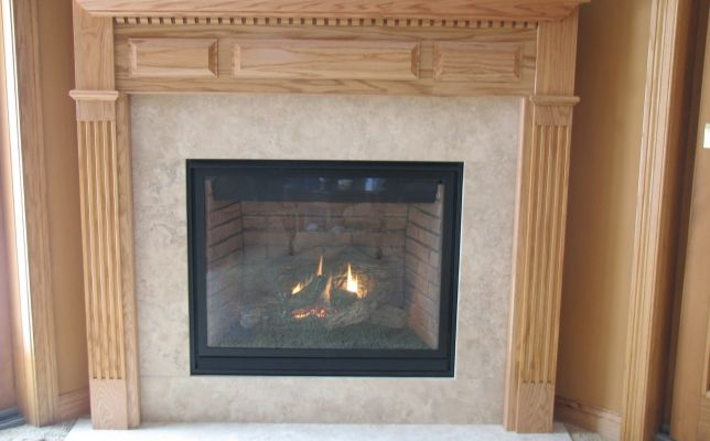 This Fireplace Used To Have Ugly Stonework Behind It We Replaced