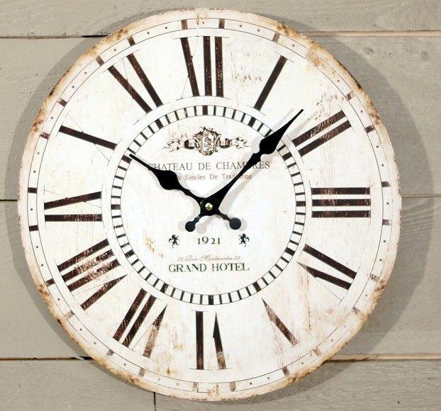 grand hotel wall clock round white wall clock clock on wall clocks id=56419