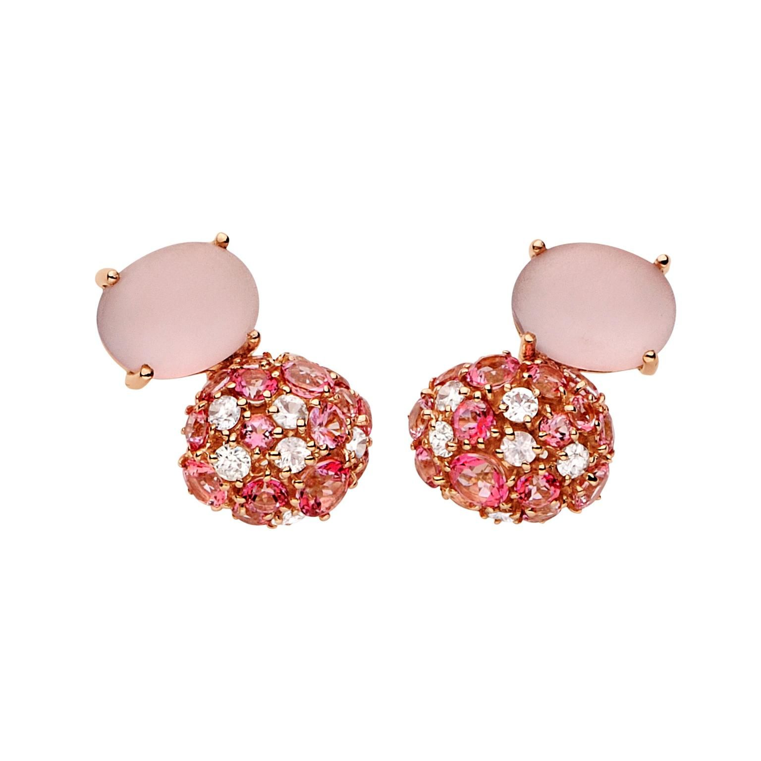 Brumani Double Baobab Bubbles Earring in Rose Gold RLC6Spi