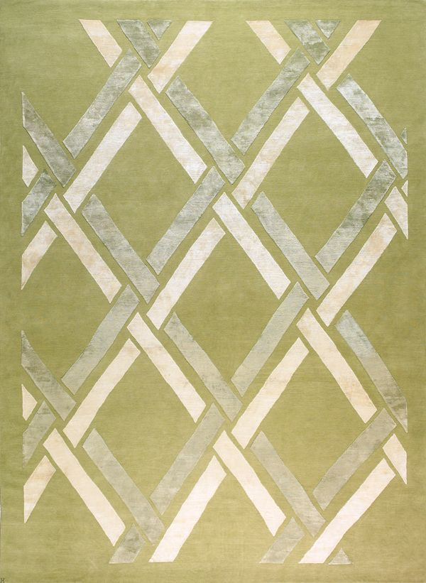 Classic Links Pale Ferns Rugs Contemporary Rug Tibetan Rugs