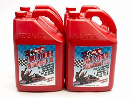 Redline Oil 41025 Two Cycle Snowmobile Oil Case4gal More