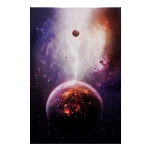 Wave Form Poster #sci-fy #spacescape #alien #planet | Fantasy&Sci ...