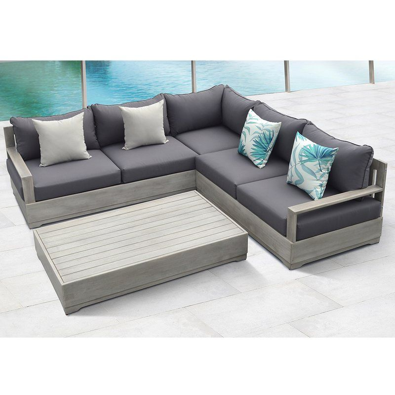 Beranda 3 Piece Sectional Set With, For Living 3 Piece Wicker Patio Sectional Set With Cushions