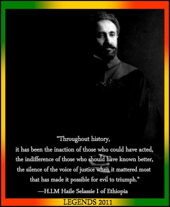 Bob Marley History Quote: I Made This For HIM Haile Selassie I Of Ethiopia
