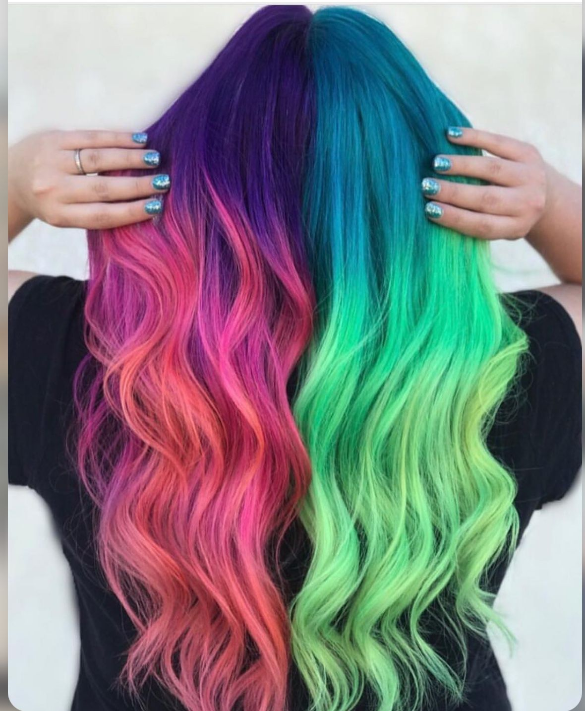 Pin by Janeisha Marie on Colorfull Vivid hair color