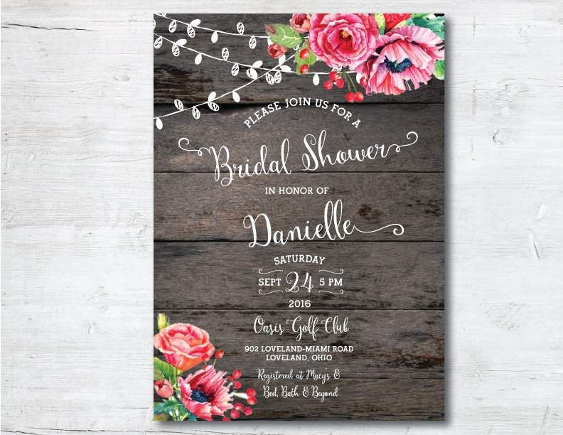 free online printable wedding thank you cards%0A Printable Bridal Shower Invitation Bridal by PoshPaperOccasion