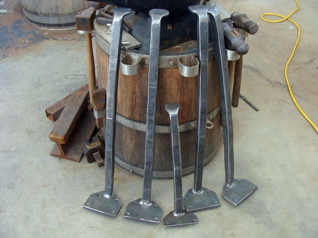 Metal Leg Desk Forged Metal Table Leg Set Set Of 4 Hand Forged