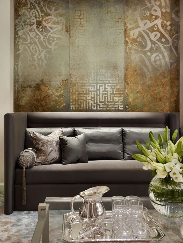 An artwork by khalid shahin arabic calligraphy finished for Silver bedroom wall art