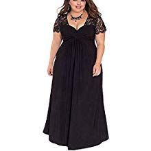 982975f0b5105 Lover-Beauty Vestido Largo Mujer Talla Grande Moda Bolsillo Top Falda para  Fiesta Verano Manga Corta Floral Estampada Suleto Moda de Ropa Elegante Maxi
