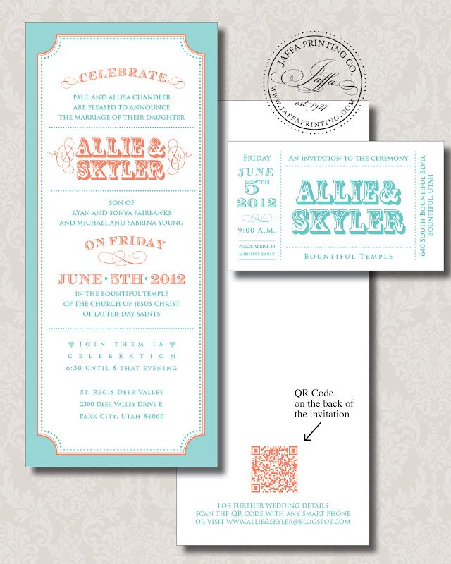 A Techy Wedding Invite With QR Code Guests Can Scan For More Info