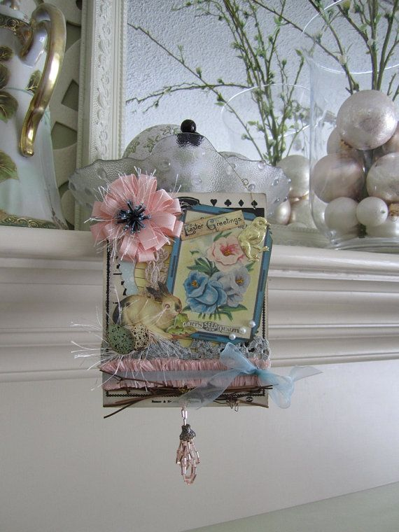 shabby chic easter decor pastel easter ornament | crafts, Hause ideen