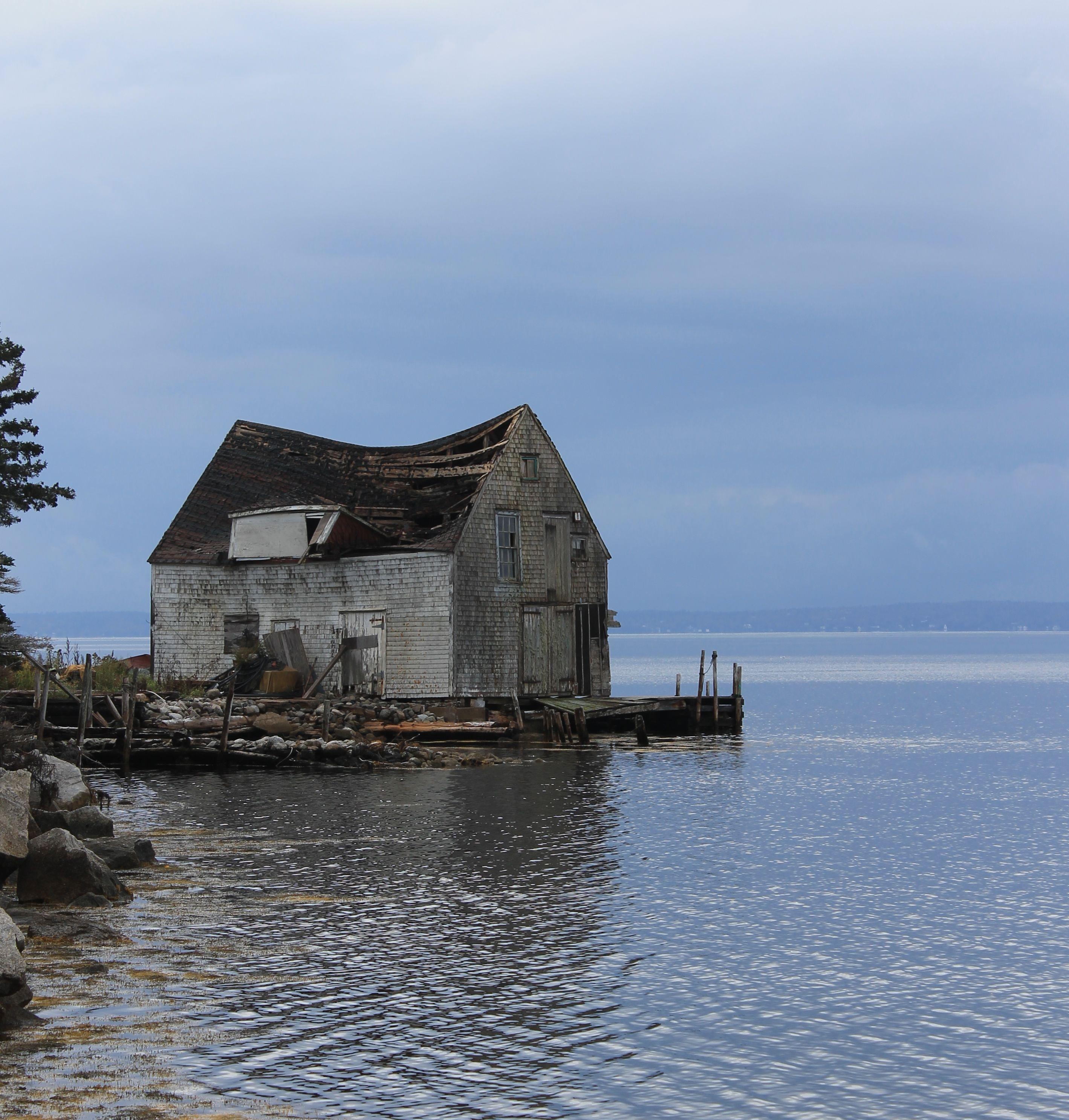 old fishing shack
