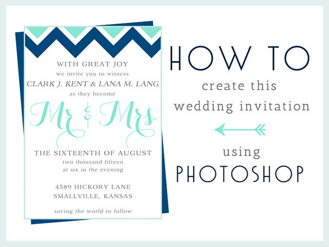 How to make this wedding invitation in photoshop photoshop stew how to make this wedding invitation in photoshop dinosaur stew stopboris Gallery