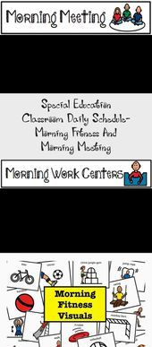 Special Education Classroom Daily Schedule- Morning Fitness And Morning Meeting - Education,  #Class...