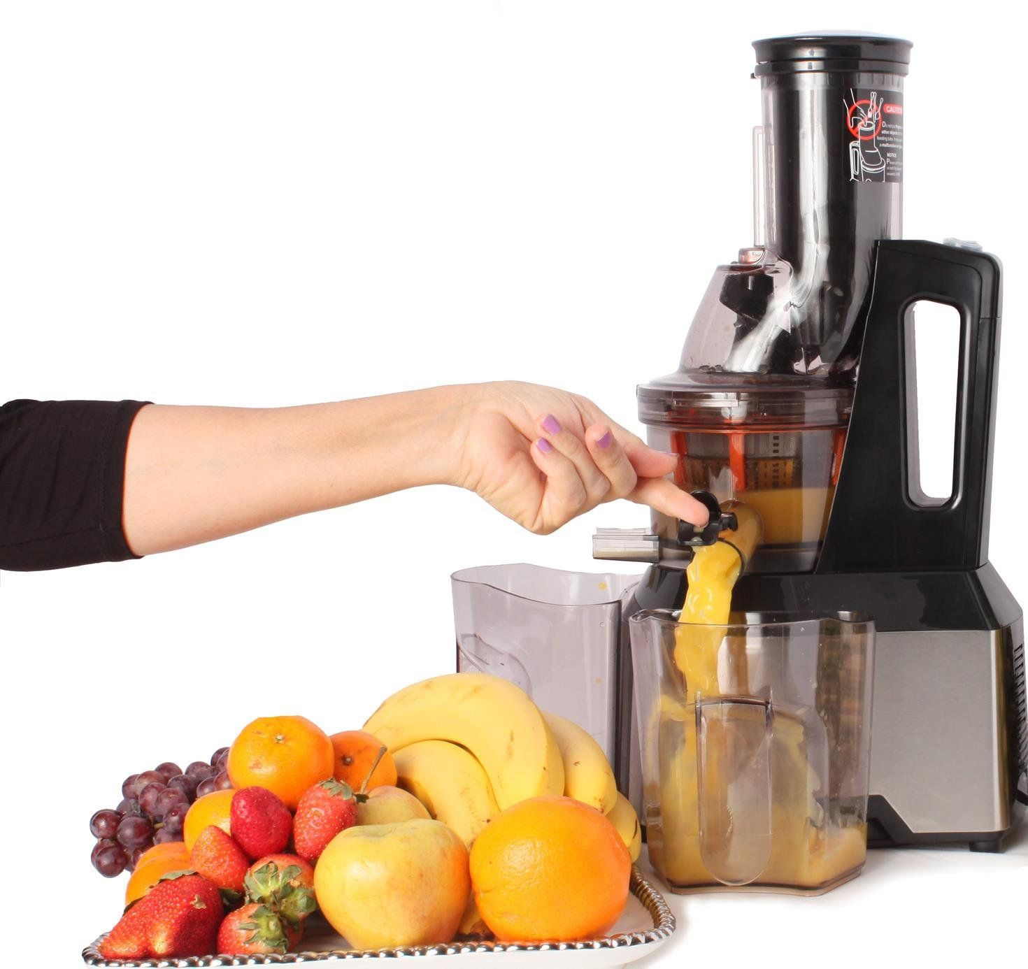 Oliver Smith Slow Masticating Juicer Extractor Quiet 300W AC