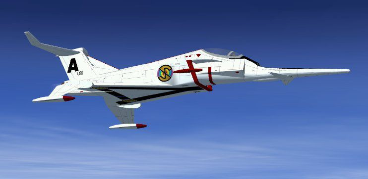 FSX Captain Scarlet Angel Interceptor from the 1960's