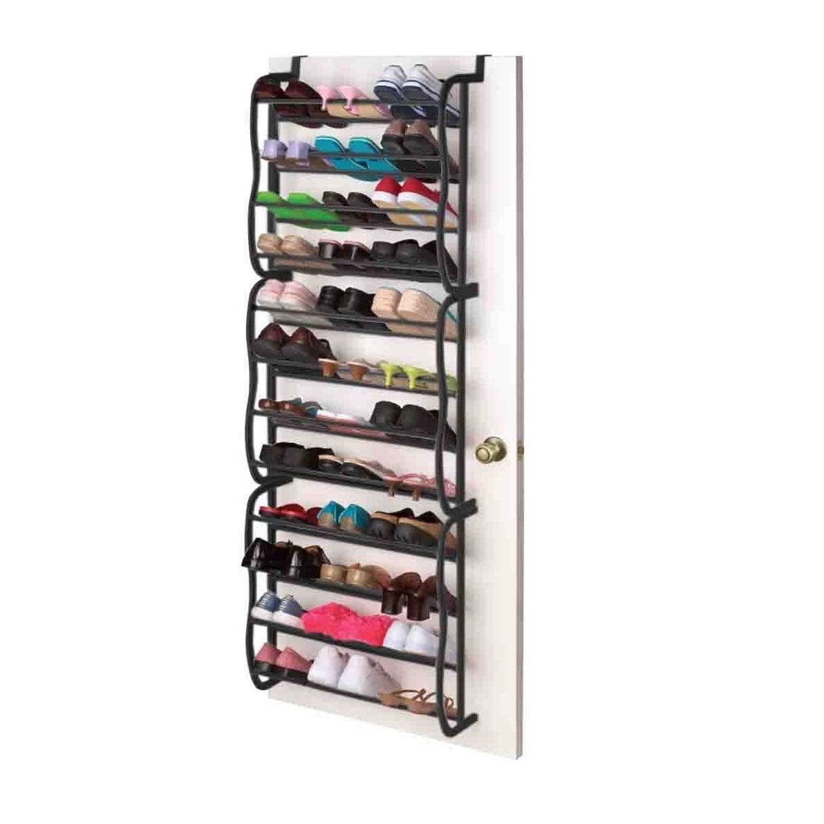 Sunbeam black pair shoe rack plastic in products