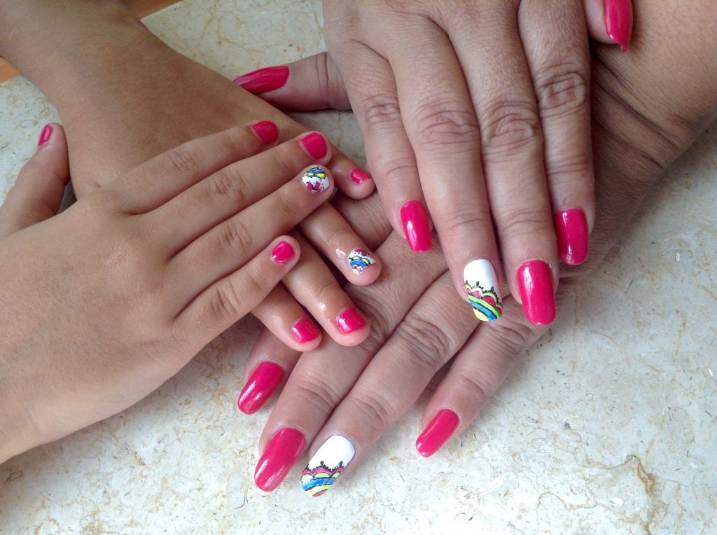 Mother and daughter #gelish