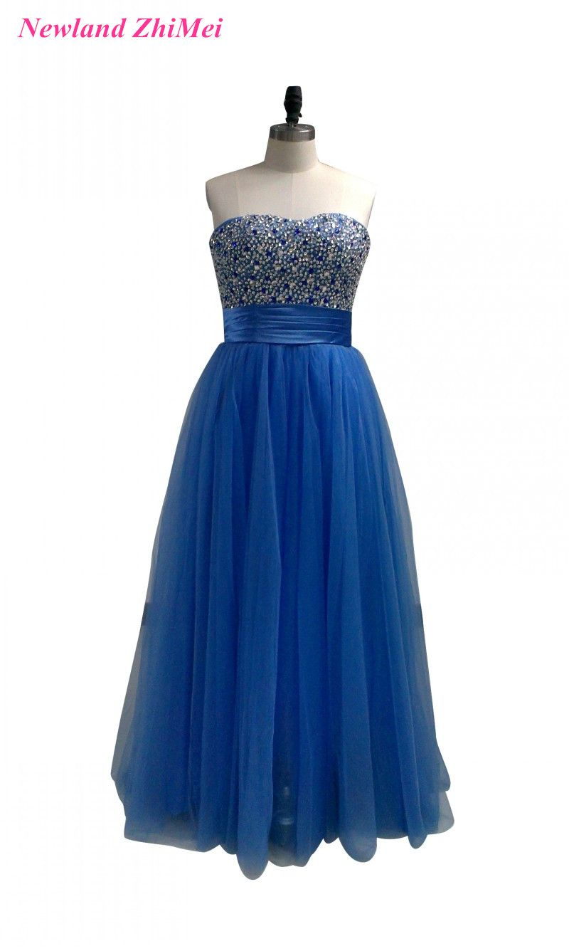 Click to buy ucuc new design blue woman formal party gowns elegant