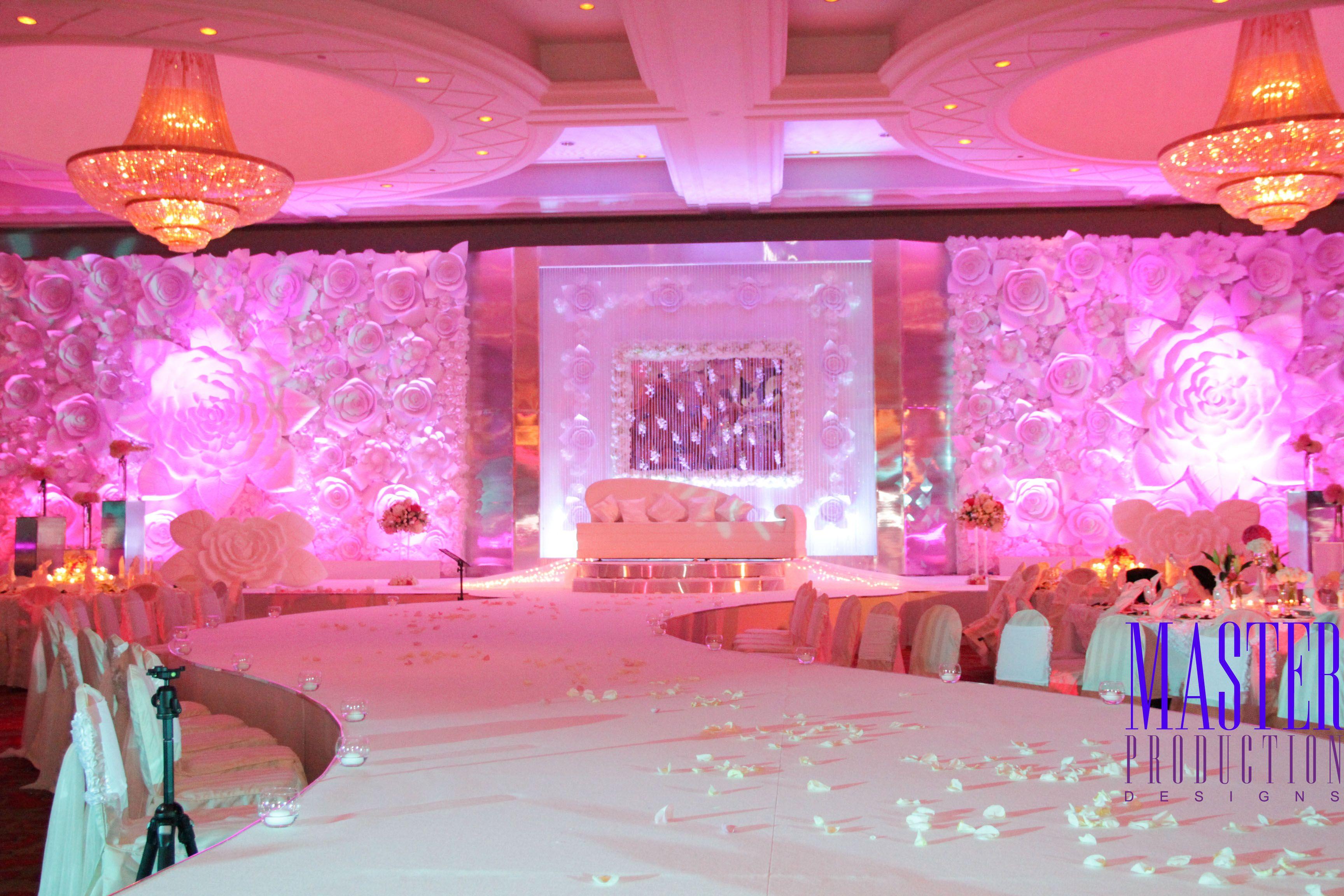 Paper flower stage design arabic wedding in dubai kosha wedding arabic wedding in dubai junglespirit Images