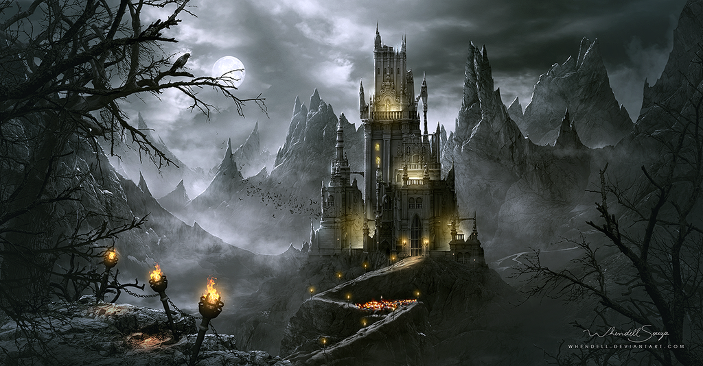 Dracula's Castle by Whendell on deviantART | Fantasy Art ...
