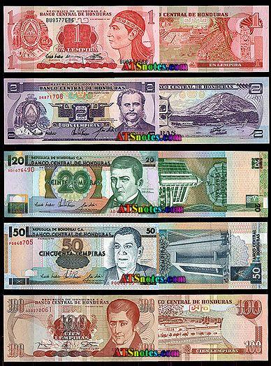 Honduras Currency Lempiras With