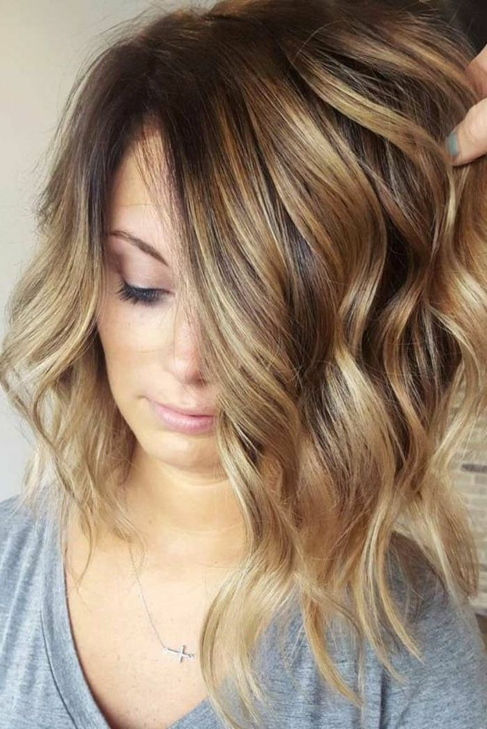 id e coiffure description balayage brun caramel carr. Black Bedroom Furniture Sets. Home Design Ideas