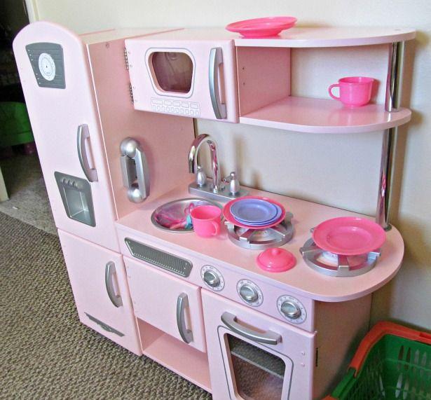 Kidkraft kitchen pink vintage encourages pretend play kidkraft kitchen pink vintage encourages pretend play workwithnaturefo