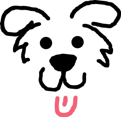 Dog Face Outline Print Art Animals Print Art At Embroiderydesigns Com Dog Face Dog Outline Face Outline