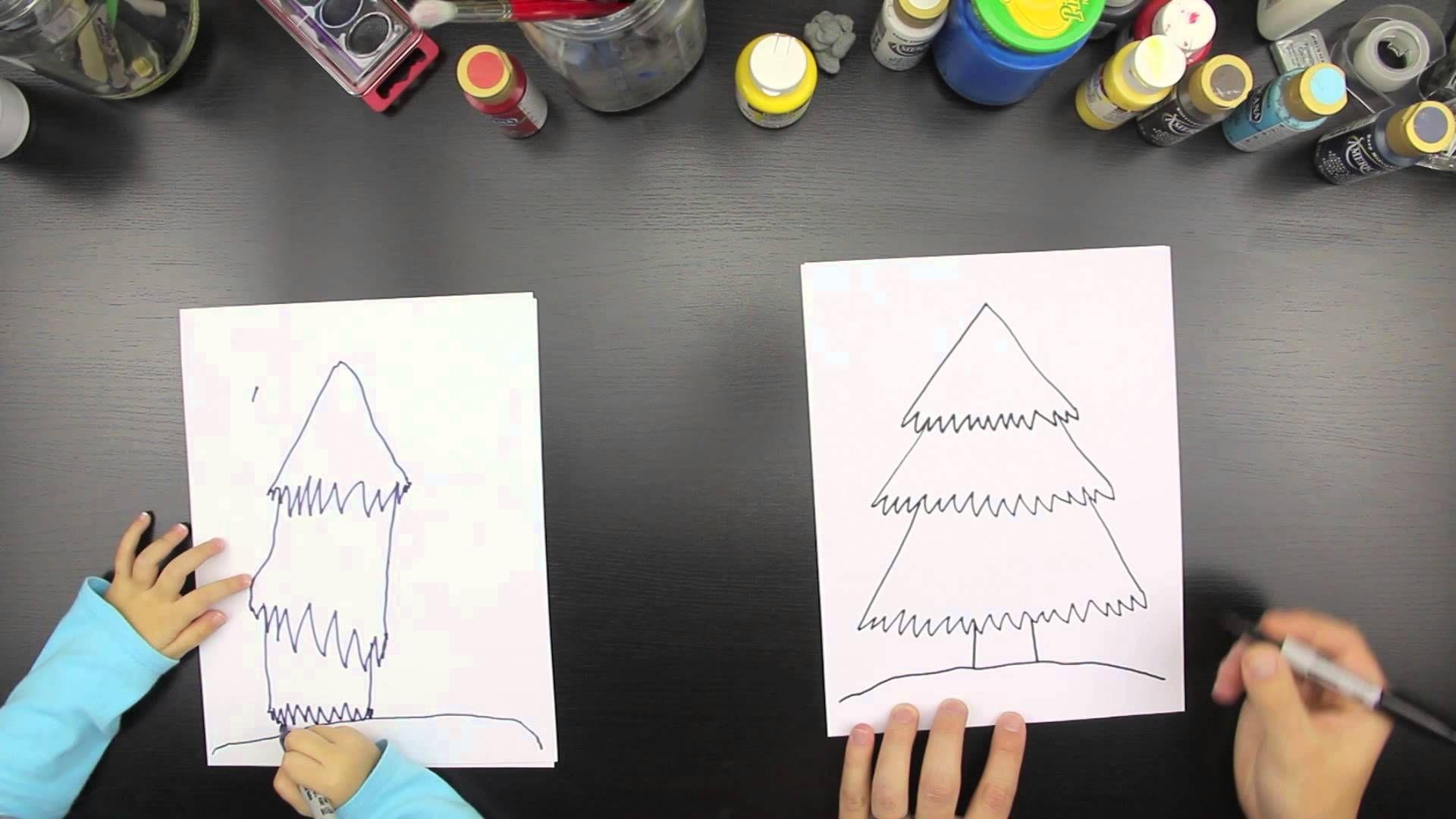 How to draw a Christmas tree | Art for kids hub, Christmas ...