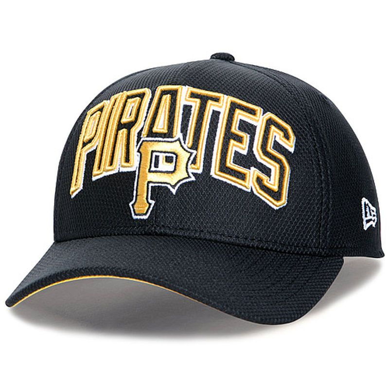 ad62be56d5d ... discount pittsburgh pirates new era youth wordmark diamond era 39thirty stretch  fit hat black 88b3e ec05a best mlb atlanta braves ...