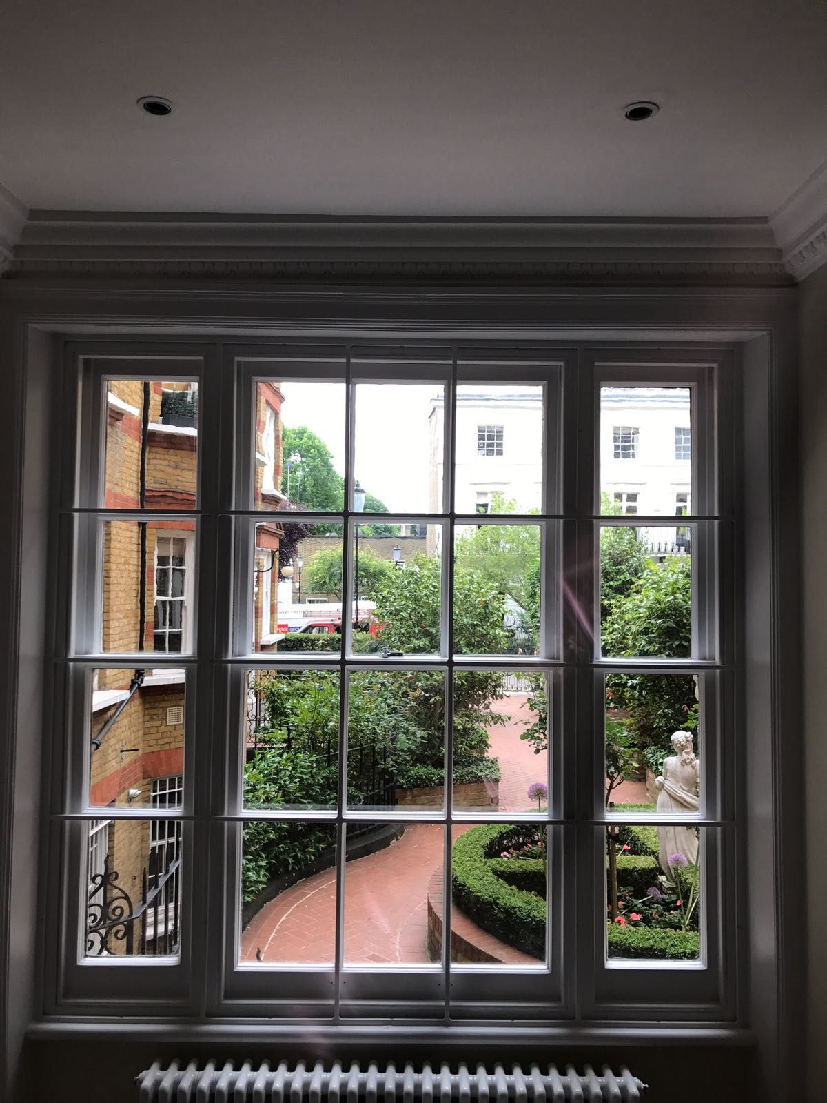Family Satisfied With The Installation Of Our Rsg2000 Georgian Security Bars Securing Their Mansion Windows Doors House Mansions