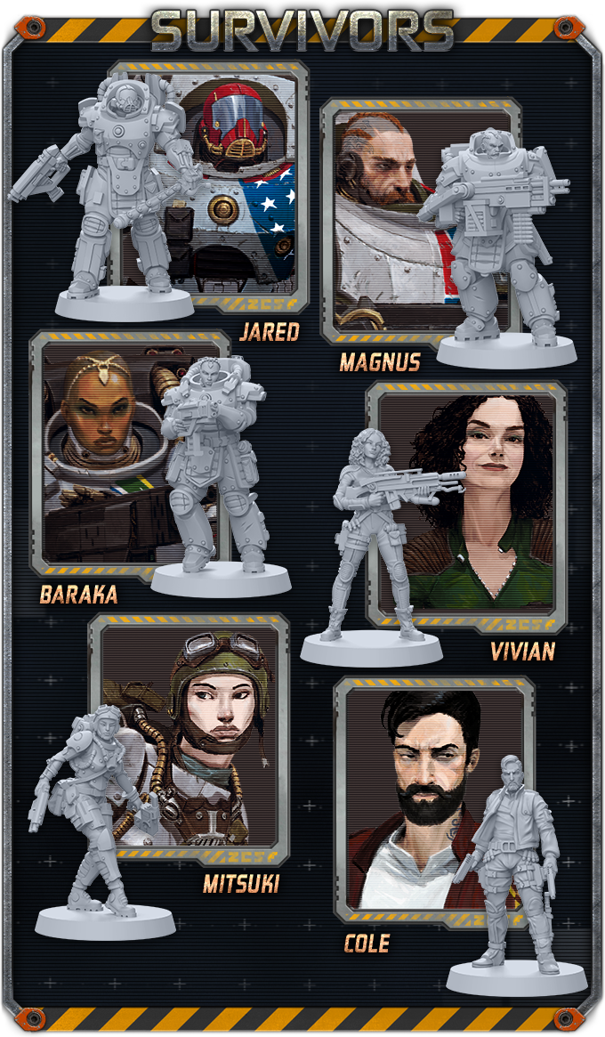Zombicide Invader REA /'TANK GIRL/' Kickstarter Exclusive Survivor