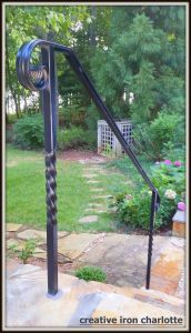 Best Simple Forged And Twisted Handrails Creative Iron Designs 400 x 300