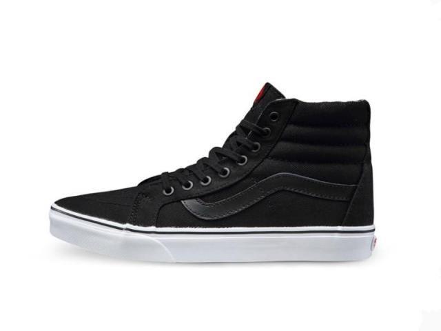 bd57206389cc28 Vans Sk8-Hi Classic All-Black True White Mens Shoes  Vans