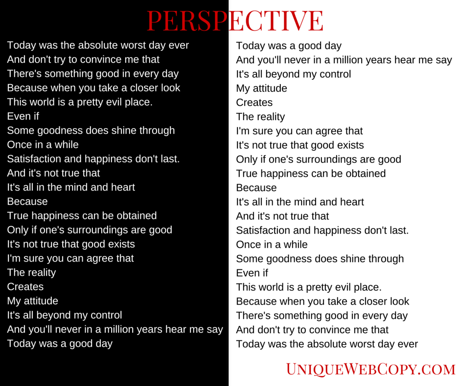 Perspective essay positive and negative