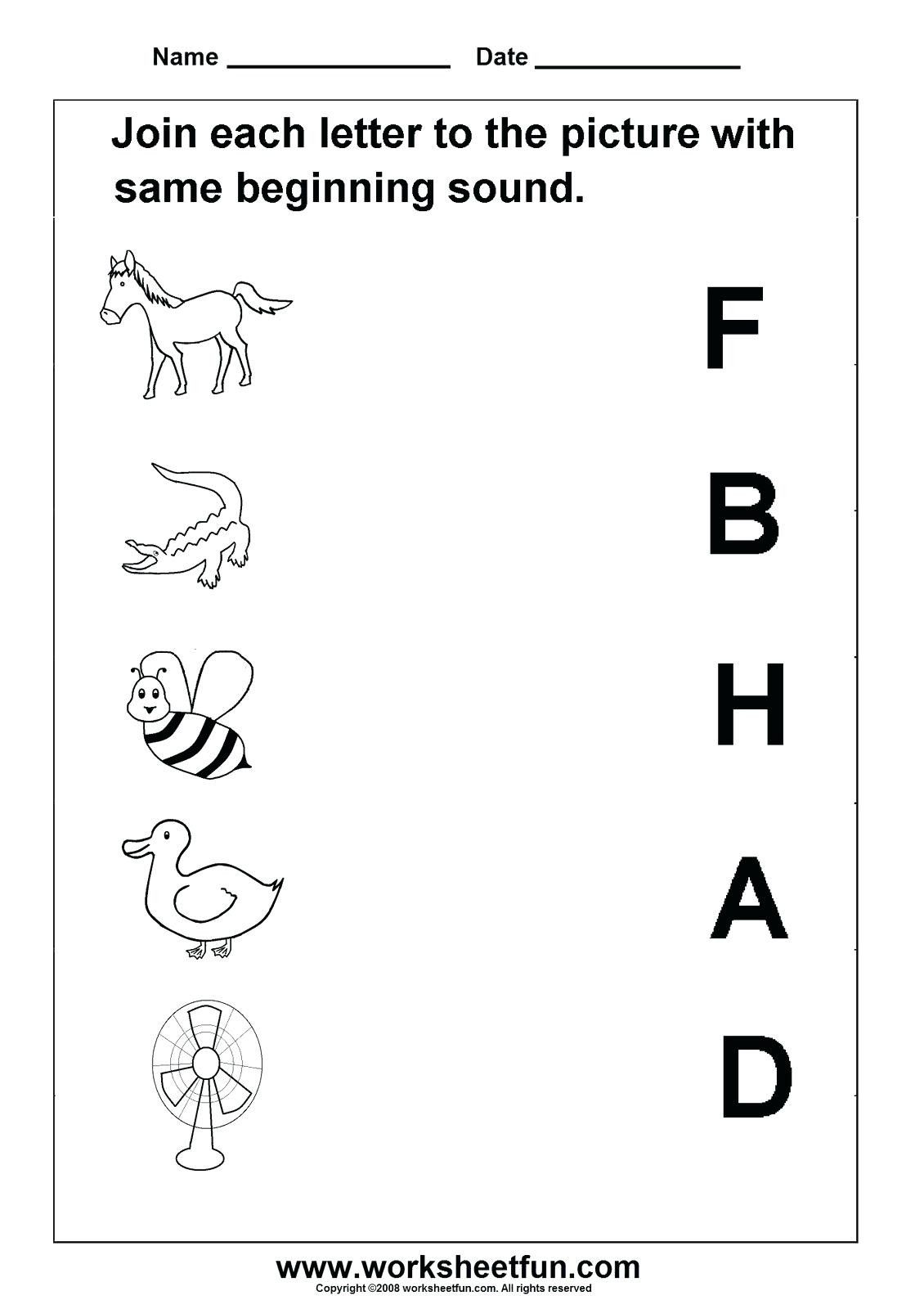 Letter Sounds Worksheets For Kindergarten