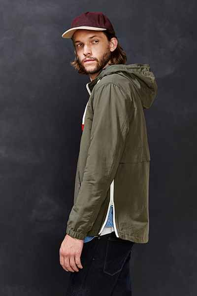 CPO Nylon Side Zip Anorak Jacket - Urban Outfitters