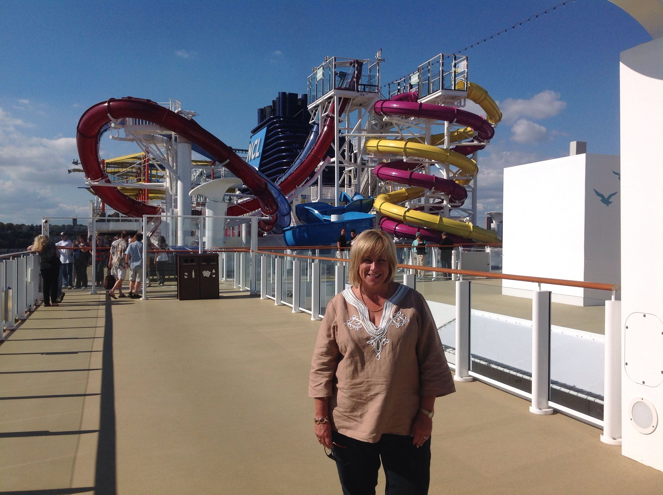 You can get a great sense of how large all the waterslides are on Norwegian breakaway