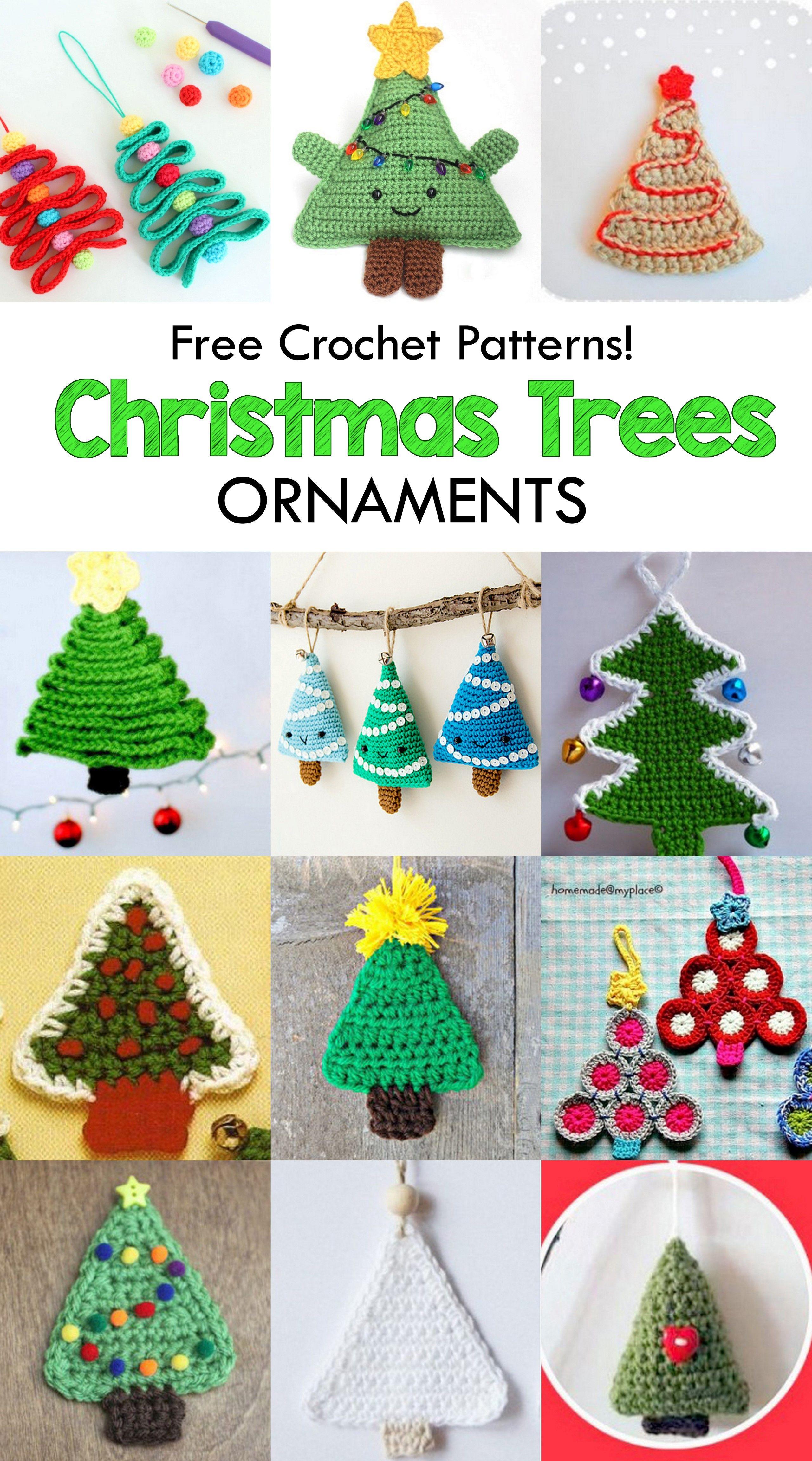 15 Free Christmas Tree Applique Crochet Patterns Crochet Christmas Decorations Christmas Crochet Patterns Christmas Crochet