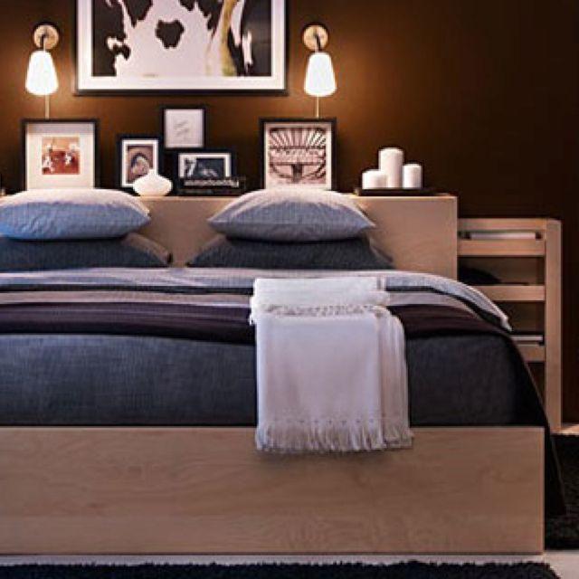 Ikea Malm Bookcase/headboard Combo