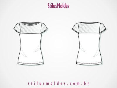 122e6a30c0 moldes de camisa feminina de renda na parte de cima