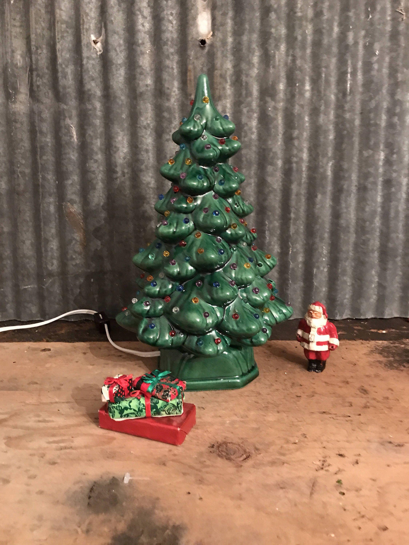 Vintage Ceramic Christmas Tree with Colored Lights $38 | Christmas ...