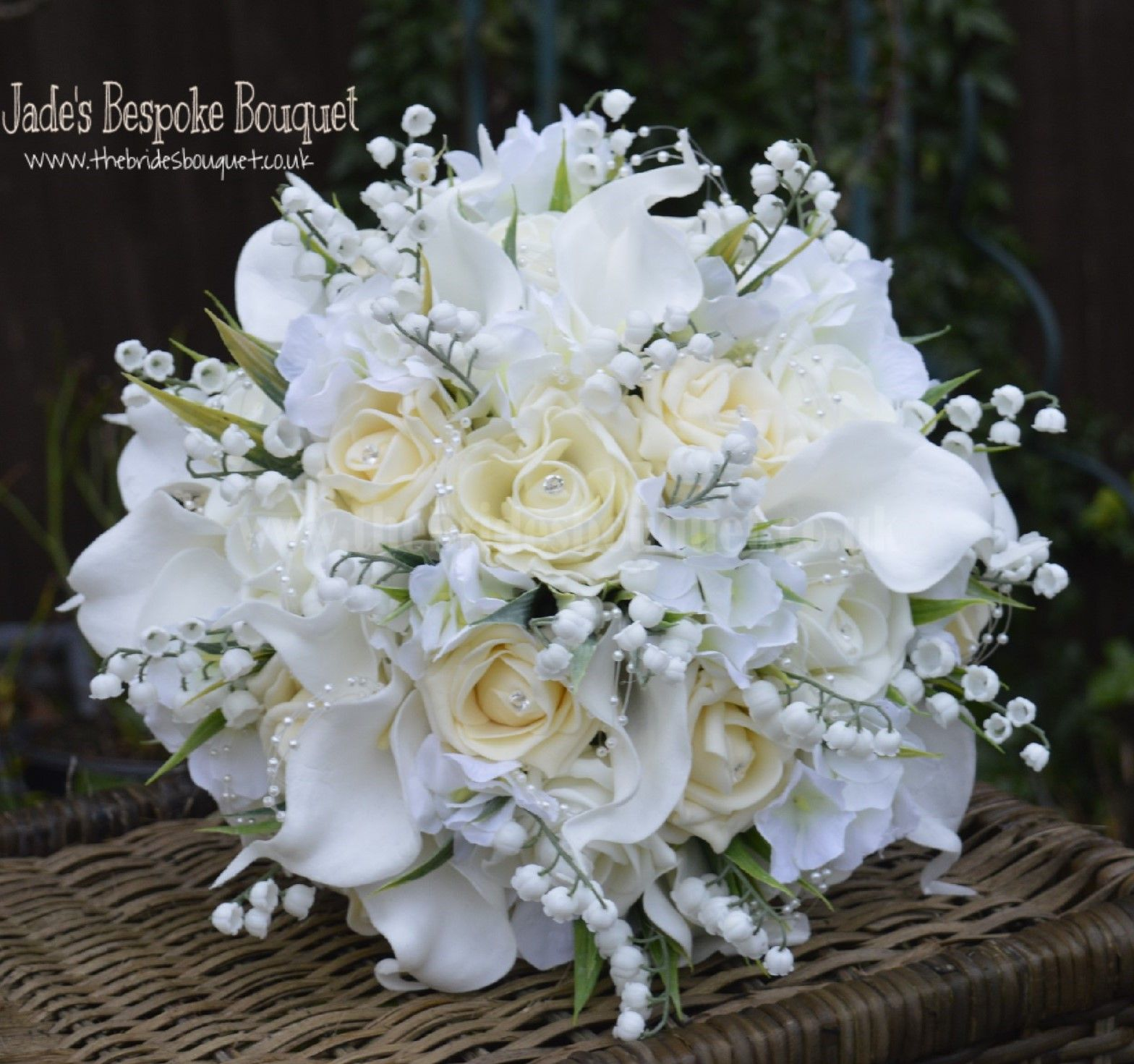 Lily Of The Valley Wedding Flowers: A Bespoke Artificial Rose, Calla Lily, Hydrangea And Lily