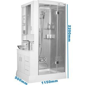Bathroom Washbasin Vanity Unit Basin Furniture Hydra Shower Cubicle Enclosure Ebay Tiny House Bathroom Tiny Bathrooms Shower Cubicles