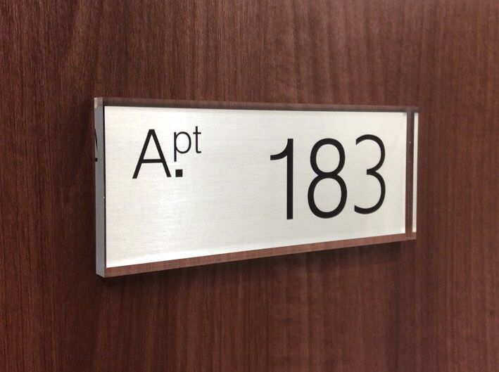 Simply Smart apartment Door numbers Sign www.de-signage.com ...