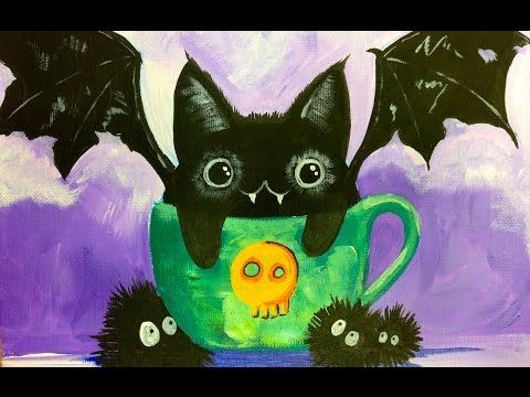 Black Cat Bat Kawaii